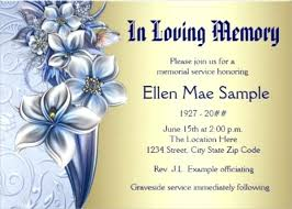 Memorial Service Invitation Template Amazing Memorial Service Invitation Card Template Usgenerators