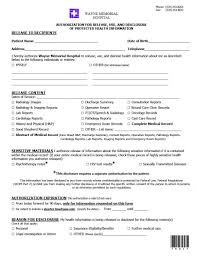 employee medical consent form template. authorization to access medical records Holaklonecco
