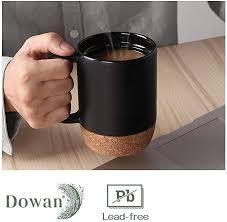 $3.49 each was $4.99 each. Amazon Com Dowan Coffee Mugs Set Of 2 15 Oz Ceramic Mug With Insulated Cork Bottom And Splash Proof Lid Large Coffee Mug Wit Large Coffee Mugs Mugs Mugs Set
