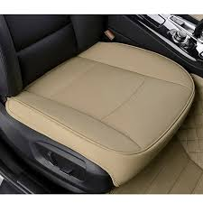 details about car front seats pu leather cover bamboo slip bucket seat protector cushion mat