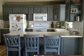 country kitchen painting ideas. Grey Cabinet Painting Ideas With White Countertop For French Country Kitchen