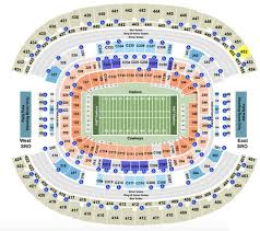 Lsu Seating Chart With Rows At T Stadium Seating Chart With Row Seat And Club Details