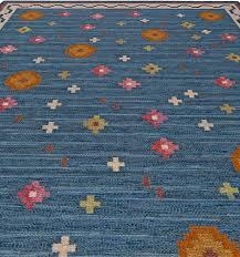 vintage flat weave rug by anna greta sjoqvist ags bb5682