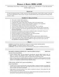 Social Work Intern Resume Samples Worker Examples Sample Template