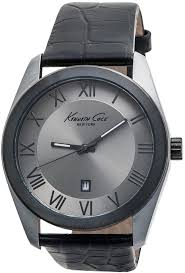 kenneth cole modelcurbrandname new york classic roman numeral watch croc embossed leather band