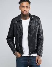 pepe jeans pepe ot leather biker jacket