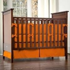 rustic crib furniture. solid orange crib bedding love would look adorable with a rustic furniture