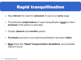 Rapid Tranquillisation Flow Chart Clinical Teaching Pack Ppt Download