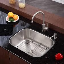 kraus small single bowl undermount stainless steel sinks for best kitchen sink idea