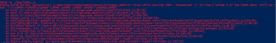 Error while parsing JSON - npm run build - React.js - Codecademy Forums