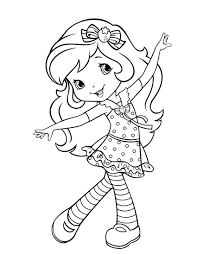 Strawberry Shortcake Coloring Page Dibujos Para Pintar Y M S