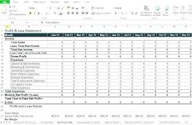 Sample P And L In Excel Monthly Balance Sheet Excel Template Opusv Co