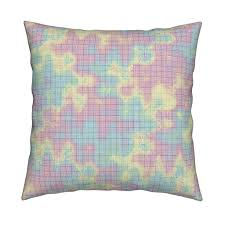 Crazy Rainbow Graph Paper On Catalan By Weavingmajor Roostery Home