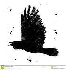 ворон эскиз чернил Grunge нарисованный рукой черноты иллюстрация