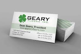 Geary Design Business Card Design Print Geary Floors