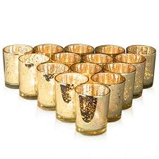 gold mercury candle holders. Contemporary Holders Granrosi Gold Mercury Votive Candle Holder Set Of 15  Speckled Finish  Glass Intended Holders U