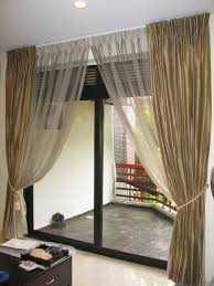 curtains for patio door ideas and design heading to patio space with modern look interior living