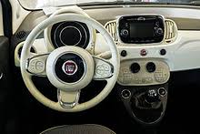 fiat 500 2015 convertible. dashboard in white model year 2015 fiat 500 convertible