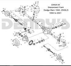 Dana 44 Front Axle Shaft Length Chart Dodge Dana 44 Disconnect Front Axle Parts For 94 To 02