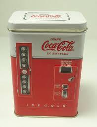 Vintage Coca Cola Vending Machine Amazing Vintage Coca Cola Vending Machine Tin Can Etsy