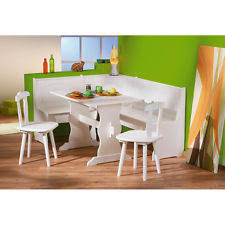 corner dining furniture. rustic dining table set furniture kitchen white wooden corner bench 2 chairs new n