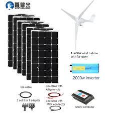 xinpuguang 600w wind turbines 600w solar hybrid system diy kit solar panel home house wind generator controller turbine battery