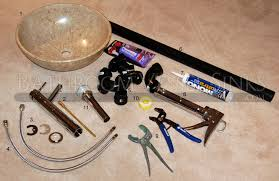 all the items required to perform the vessel sink installation