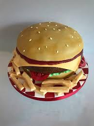Burger Cake Design La Belle Cake Company The Award Winning Leading Designer Of