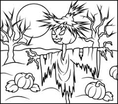 Small Picture Scarecrow Coloring Page Printables Apps for Kids