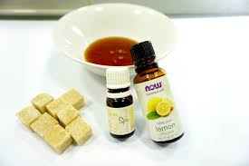 essential oils honey and brown sugar for homemade face mask and scrub