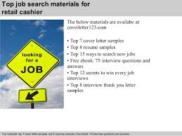 6 top job search materials for retail cashier retail cashier cover letter