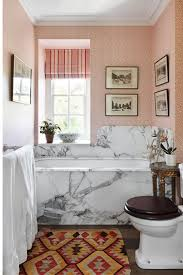 Small Picture Marble Bath Surround Pink Wallpaper Small Bathroom Ideas