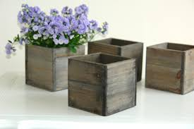 50 small wooden planter bo lace ribbon rustic vases and