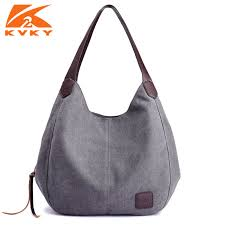 <b>Canvas Bag Vintage Canvas Shoulder Bag</b> Women Handbags ...
