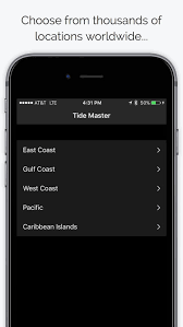 Tide Master Ocean Tides Charts Graphs Tables By Above