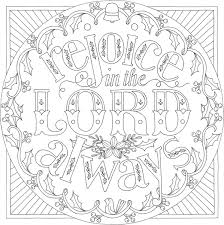 coloring in page. Fine Page Coloring In Page  Rejoice In The Lord Always  Philippians 44 For R