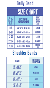 Belly Size Chart Babybellyband Sizing Chart Shoulder Belly Best Maternity