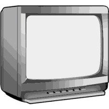 tv clipart black and white. television clipart cliparts of free download wmf tv black and white