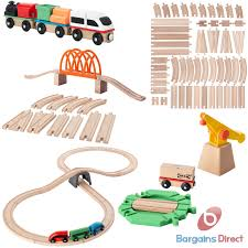 ikea lillabo wooden railway train track and engine sets toy play set