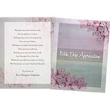 Personalized Sympathy Thank You Cards Amazon Com Personalized Funeral Thank You Cards And Envelopes Set
