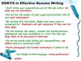 Tips On Resume Writing Sarahepps Com