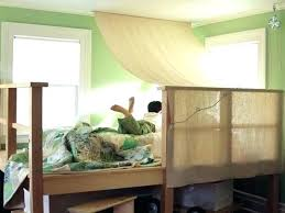 Enchanting Girls Twin Canopy Bed With Loft Drawers Be