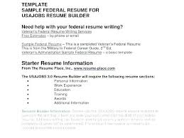 Usajobs Resume Format Federal Job Resume Builder Gov Resume Builder ...