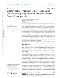 Daily Mood Chart For Bipolar Disorder Pdf Bipolar Disorder Recurrence Prevention Using Self