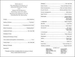 Sample Wedding Programs Under Fontanacountryinn Com