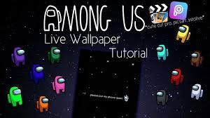 Among us wallpaper tutorial - YouTube