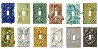 Ceramic Light Covers Hand Made Unique Decorative Ceramic Art Light Switch