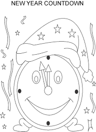 New Year Countdown By Clock Coloring