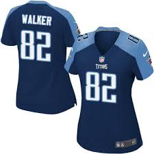 Blue 82 Delanie Women's Alternate Navy Walker Limited Jersey Titans Tennessee