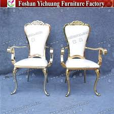 china wedding durable fancy king and queen gold throne chairs for chair